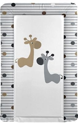 Large Baby Changing Mat Giraffe Friends Grey Brown