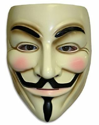 Halloween's V for Vendetta Mask Guy Fawkes Fancy Dress Anonymous Adult Costume