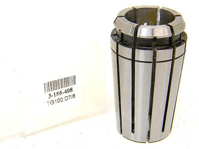 "New Toolmex Tg100 7/8"" Single Angle Collet 3-166-408 Tg-100 (.875"")"
