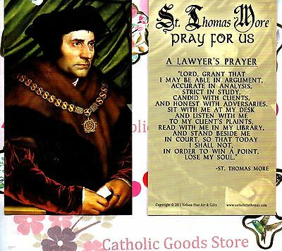 St Thomas More with A Lawyer's Prayer - Paperstock Holy Card
