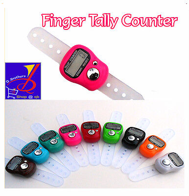 Digit Hand Finger Tally Counter For Tasbee ,Golf, School & Spot LCD Digital