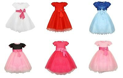 Uk Sparkle Cinderella Bridesmaid Christening Princess Dress, Girls Party Dress