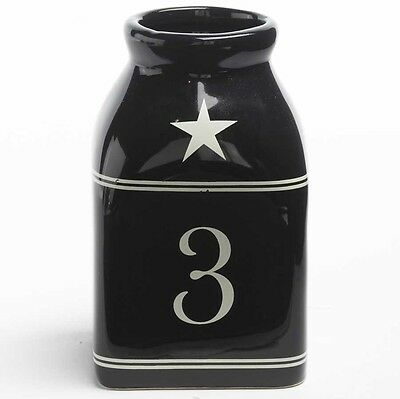 4 Inch Black Square Bottle with 3