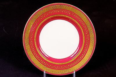 12 Minton for Tiffany Small Magenta Plates gold encrusted/gilt/gilded