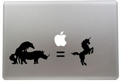 Unicorn vinyl sticker for Mac Book/Air/Retina laptops. BLACK OR WHITE