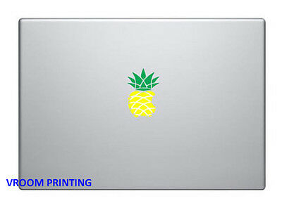 Pineapple Mac Book/Air/Retina vinyl decal. Multi-coloured decal. Australian made