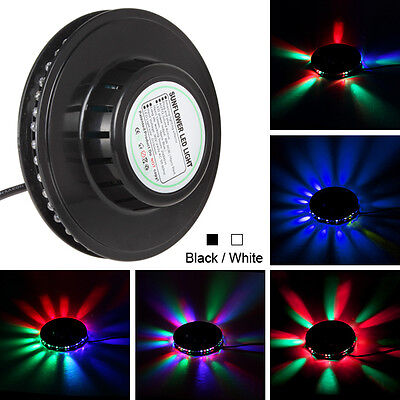 Home Sound Effect 48-LEDs RGB LED Light 8W Lamp For Stage / Bar / DJ / Party