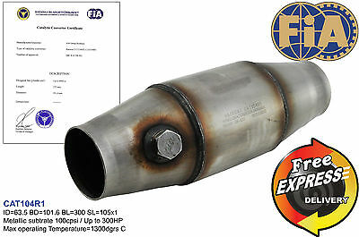 """Fia approved 4"""" catalytic converter 100cpsi for Group N Race cars inlet 2.5"""""""