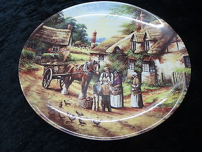 "Collectors Plate - Wedgwood - Country Days - ""Buying the Bread""."