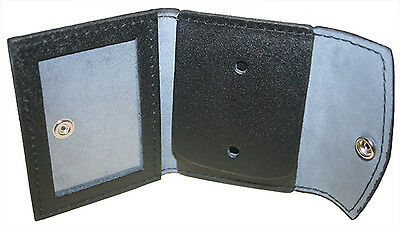 Rothco Black Leather Concealed Carry Badge Shield License ID Card Holder Wallet