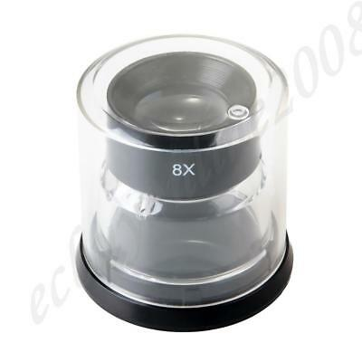 8X Loupe Professional Magnifier Negative Slide Photo Viewing Optical Glass Made