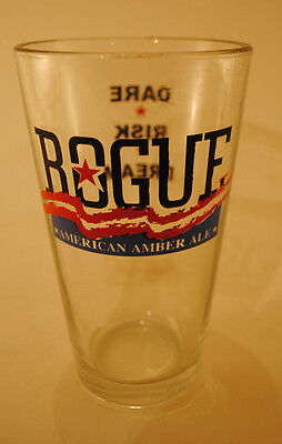 RARE ROGUE BREWING AMERICAN AMBER ALE BEER GLASS BAR GLASSES GLASSWARE