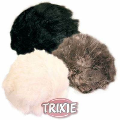 3 X Plush Cat Kitten Catnip Play Balls With Bell And Infused With Catnip 3Cm