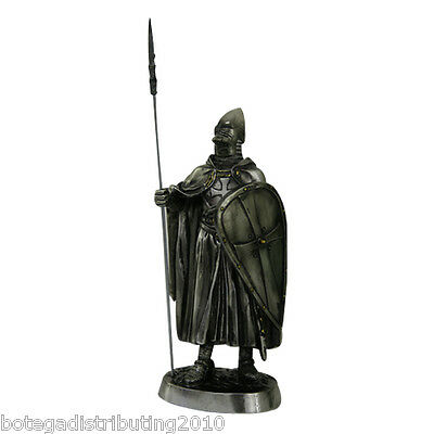 """Medieval Crusader Knight Statue Bronze Finishing Cold Cast Resin Statue 7"""""""
