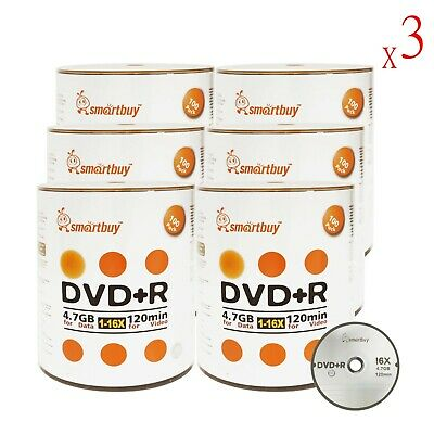 1800 Smartbuy 16X DVD+R 4.7GB Logo Top Data Video Blank Media Recordable Disc