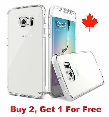 For Samsung Galaxy S6 / S6 Edge - Transparent Thin Clear Soft TPU Case Cover