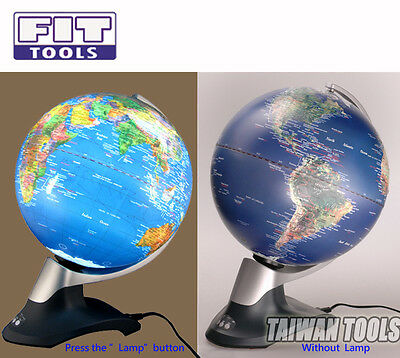 "FIRSTINFO 12"" Auto Turning Raised Effect Light Globe / Time Difference Display"