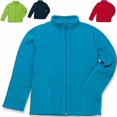 STEDMAN KINDER FLEECE JACKE/Active Kids Jacket/STEHKRAGEN Regular Fit - S-XL (0)