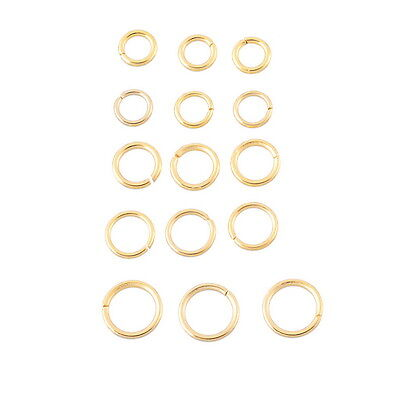 30PCs Stainless Steel Gold Tone Open Rings Jewelry Findings