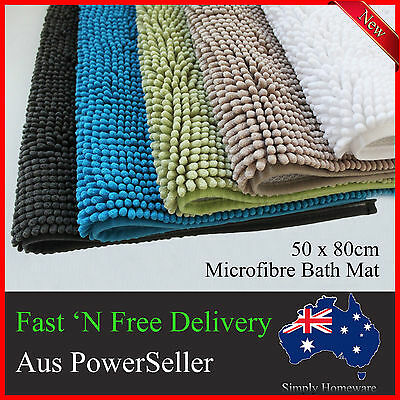 Non Slip Microfibre Bath Mat Mats Shower Rug Bathroom Large Anti Slip Soft
