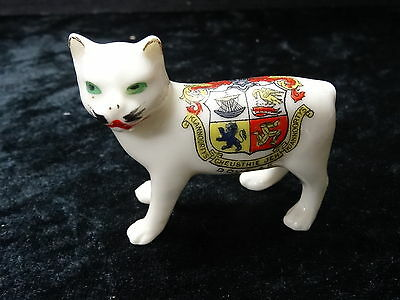 Arcadian China Model of Manx Cat with Douglas Crest