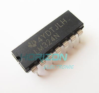 5pcs LM324 LM324N LM324AN IC OP-AMP QUAD LOW POWER TUBE25  DIP-14 QC