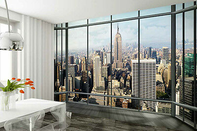 Wall mural giant size New York City Skyline view wallpaper - office living room