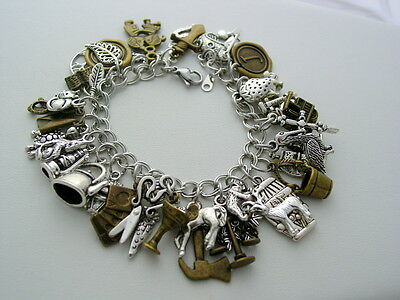 Ultimate Scottish Outlander Charm Bracelet Dragonfly in Amber Charm Bracelet