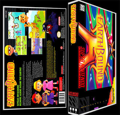 Earthbound - SNES Reproduction Art Case/Box No Game.