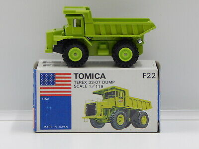 1:119 Terex 33-07 Dump (Green) - Made in Japan Tomica F22