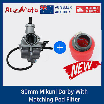 30mm Mikuni Carby/Carburetor & Air filter 150cc 200cc 250cc Dirt  bike buggy ATV