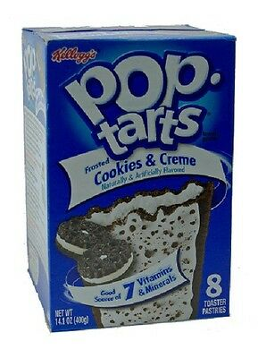 Kelloggs Pop-Tarts Frosted Cookies & Creme USA Import 400 g