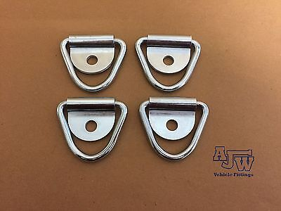 4 X Tie Down Lashing Ring And Cleat HorseBox Van Truck Trailer (Ring Only)