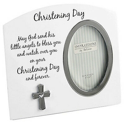 Christening Gifts White Christening Day Photo Frame Gift For Boy or Girl Unisex