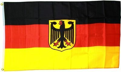 DEUTSCHLAND GERMANY German EAGLE CREST soccer FOOTBALL Flag Large 5 x 3ft