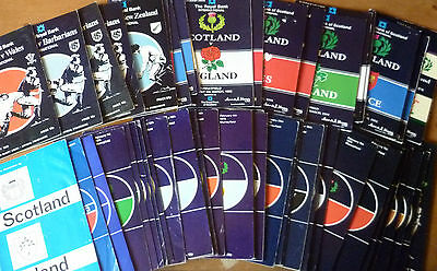 1971-94 - Scotland Home Rugby Union Programmes