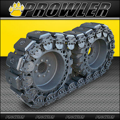 "12"" Prowler Stealth Rubber OTT Tracks for Skid Steers - Fits 12x16.5 Tires"