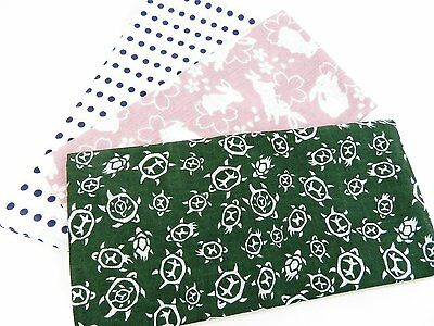 Japanese traditional towel TENUGUI  COTTON NEW 3 SET (6) MADE IN JAPAN