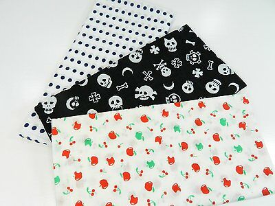 Japanese traditional towel TENUGUI  COTTON NEW 3 SET (10) MADE IN JAPAN