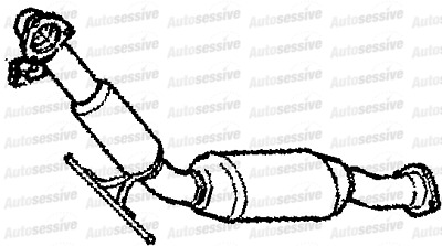 Volvo Xc90 2.4Td D5244T Est Awd 02-06 Exhaust Catalytic Converter Replacement