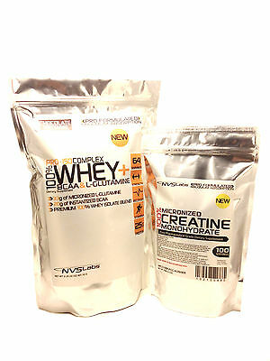 5lb 100% WHEY PROTEIN ISOLATE COMPLEX + 1000g MICRONIZED CREATINE MONOHYDRATE
