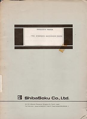 User manual with schematics for  Shibasoku 760D