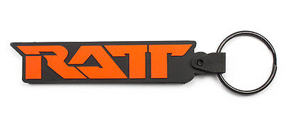 RATT Rubber Keychain Keyring Key Chain Key Ring