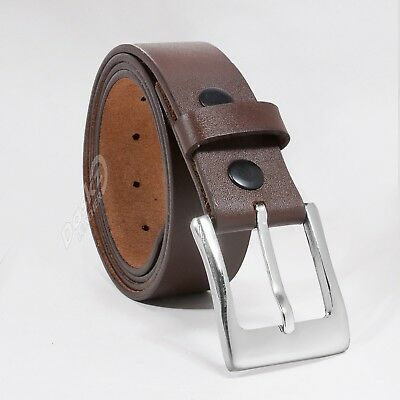 MEN'S LEATHER BELT (100% GENUINE) Brown  30'' to 64""