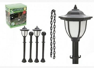 Wholesale-Resellers-6 X GARDEN SOLAR LAMP & CHAIN  FENCE SET