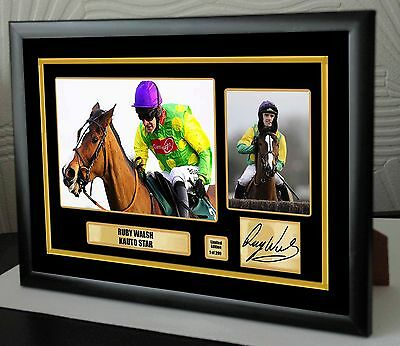"""Ruby Walsh Kauto Star Limited Edition Framed Canvas  Print Signed """"Great Gift"""""""