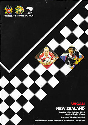 1993 - Wigan v New Zealand, Touring Programme