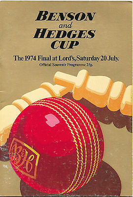 1974 - Leicestershire v Surrey, Benson & Hedges Cup Final Match Programme.