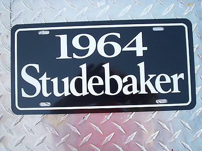 1964 Studebaker license plate tag 64 super Lark Hawk Regal Daytona Avanti stude