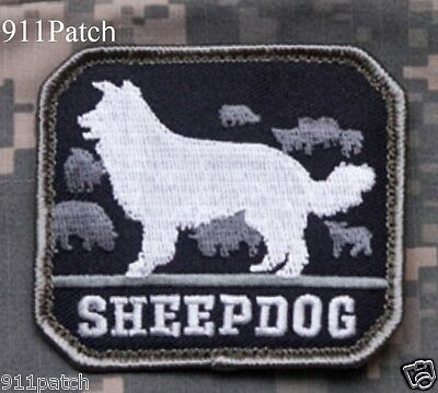 SHEEPDOG Protector Military Police Law Enforcement Hook Patch SWAT